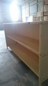 Collapsible Spruce and birch ply bar for Hooes yurts